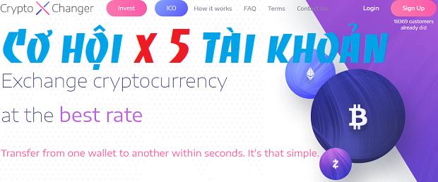 nhân 5 tài khoản với crytoxchanger